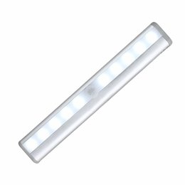 online shopping 10 LED Wireless Motion Sensing Light Bar with Magnetic Strip Stick on Anywhere Battery Operated Night Lamp Sensor lights