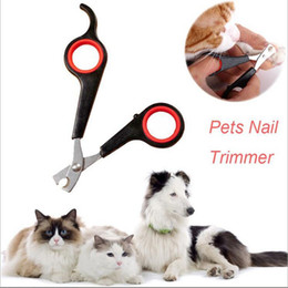 Discount cats dogs Pet Dog Cat Care Nail Clipper Scissors Grooming Trimmer 12.2*5.5cm Black Color Pet supplies DHL Free