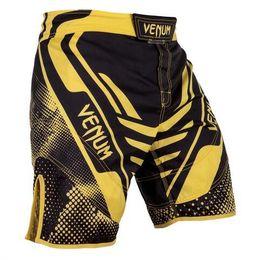 Hombres Amarillo Gris Anti-desgaste entrenamiento pantalones MMA Tailandia respirables Venom Boxeo desgaste Mma Muay tailandesa lucha trapo