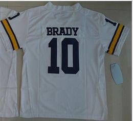 Hommes # 10 Tom Brady Michigan Wolverines Alumni Jersey