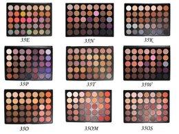 Hot 35colors sombra de olhos 35 cores sombra de olho natural paleta de sombra de olho 35O, 35A, 35B, 35C, 35D, 35W, 35T, 35P, 35F, 35T, 35OM 11 cores