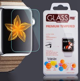 Pour Apple Watch iwatch 0.2mm 2.5D 9H en verre trempé Protecteur d'écran Flim LCD avec pack Retal