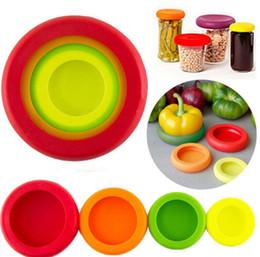 Продовольственная Savers Food Huggers Фрукты и овощи Контейнеры для хранения 4Pcs / Set ассорти продовольственных Embracers Huggers крышки хранения 50set KKA1423