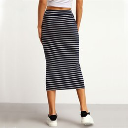 Discount Black And White Striped Skirt | 2017 Black And White ...