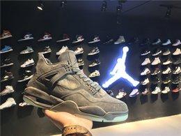 Com Original Box Air KAWS x Jordânia Jordânia Suede Cool Grey Homem Basquete Shoes 930155-003 41-47.5