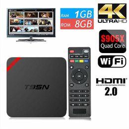 Discount google os Android OTT TV Box T95N Mini MX Amlogic S905X Quad core 6.0 OS fully loaded Smart Streaming Media Player 1G+8G better than MXQ pro