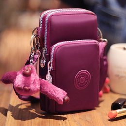 online shopping Cell phone case Universal Three Layer Storage Zipper Waterproof Shoulder Bag Wrist bag For Galaxy iPhone Plus s Plus Inch