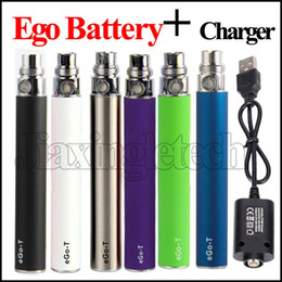 2017 E Cigarette eGo T EVOD Battery EGO-T 510 Thread For Electronic Cigarette Battery 650mah 900 1100mah Capacity with Ego 510 USB charger