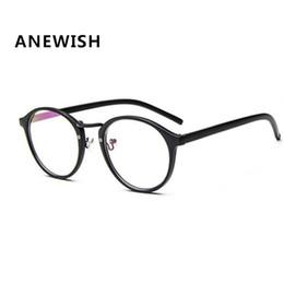 2017 circle eyeglasses frames wholesale anewish fashion unisex eyewear vintage glasses frame women plain mirror