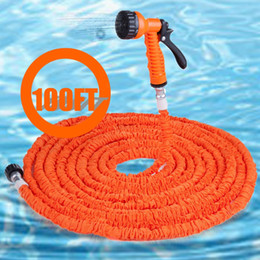 Wholesale- Orange Car Clean Spray Gun Expandable Car Hose Pipe Plastic Made of Durable Latex Flexible And Easy To Handle And Storage Store cheap easy hose from easy hose suppliers