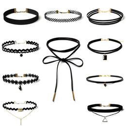 Vintage Collier de velours collier pour les femmes Noir Retro Gothic Punk collier de tatouage velours grunge Collier Collier extensible