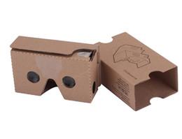 Google DIY V2 gafas cajas de papel de cartón vr espectador 3D gafas de teléfono móvil Realidad Virtual VR gafas 3D KKA25 30pcs