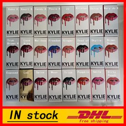 En stock! Dernières KYLIE JENNER KIT LIP Kylie Lip Velvetine Liquide Matte Rouge Rouge Maquillage Velvet Maquillage Lip Gloss Make Up 28 couleurs