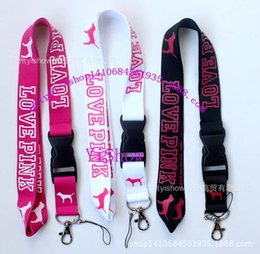 online shopping 200pcs LOVE PINK neck straps colors mixed cell phone straps love pink strap Branded for women men couples