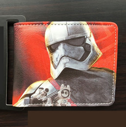 Wholesale Star Wars Rogue One Bi Fold WALLET Designs DARK SIDE Darth Vader EMPEROR Stormtrooper