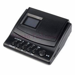 2017 phone caller id Wholesale-Y4308Z Best Professional Digital Voice Recorder Phone Call Monitor with LCD Display+Caller ID+Clock 110V 220V Telephone Recorder cheap phone caller id