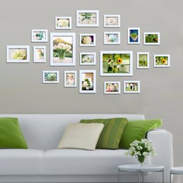 20pcs quadro irregular multi frame new moldura marcos de fotos continental solid wood frame wall photo frames picture