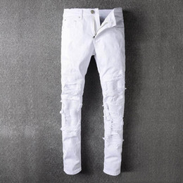 Mens White Distressed Jeans Online | Mens White Distressed Jeans ...