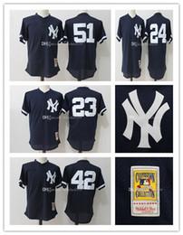 cb1bfc974a4 Blue 1995 Mesh Throwback Batting Practice Jersey New York Yankees Baseball  Jerseys Mariano Mitchell Ness Don Mattingly ...