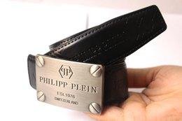 Hot Brand f Belt Men Melhor qualidade de couro genuíno preto luxuoso retângulo Designer Cowhide PP Belt Para Homens Luxo Q Belts para presente