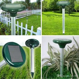 online shopping New Solar Power LED Ultrasonic Gopher Mole Snake Mouse Pest Repeller Control Garden Yard Tools Fast shipping