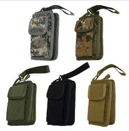 Wholesale Tactique Outdoor multi fonction portefeuille accessoires paquet sacs de téléphone Passport Bank Cards Pouch EDC sac à main Sacs Sacs en nylon sacs