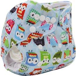 Wholesale 3PCS Lavable Couches Lavables Brand Baby Couche Couche Enveloppe Cartoon Impression Baby Nappy Changement Reutilisable Baby Tissu Couches