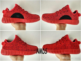 Wholesale 2017 Original Adidas Yeezy Boost Sneakers Casual Shoes Sports Red October Womens Mens Running Shoes Kanye West Yzy Yeezys Boosts