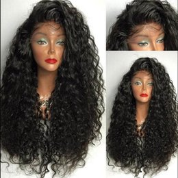 Unprocessed Human Hair Wigs Baby Hair Natural Wave Brazilian Full Lace Wig / Lace Front Wigs For Black Women 8A Top Quality