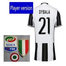 Meilleures ventes de la version 2016 du meilleur joueur Juve Jerseys run HIGUAIN Marchisio DYBALA BONUCCI chemises de jerseys Livraison gratuite