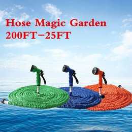 Discount 25ft hose spray Hot Selling 25FT-200FT Garden Hose Expandable Magic Flexible Water Hose EU Hose Plastic Hoses Pipe With Spray Gun To Watering