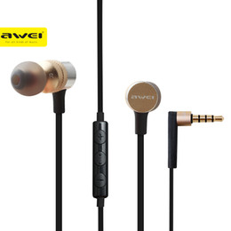 discount stereo headphone jack wiring 2017 stereo headphone jack awei es 20ty in ear earphone 3 5mm jack headphones super bass headset microphone metal fone de ouvido auriculares