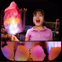 online shopping 28 CM New Kid Favor Colorful LED flashing cotton candy stick light up novelty glow party cheering stick for concert bar