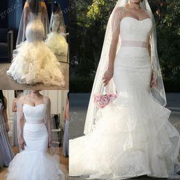 2017 mermaid style designer dresses vw designer mermaid wedding dresses 2017 with free beaded veil and