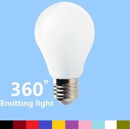 AC 85-265V 3W 5W 7W 9W E27 Led Ampoules Lumière Chaleureux / Froid Blanc 360 Angle Led Globe Lampe Pour Éclairage Living Économie D'énergie