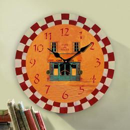 creatives coffee cup designs wall clock wood round clocks unique gift kitchen decor home decorative 12 14 16 20 24 inch - Designer Wall Clocks Online