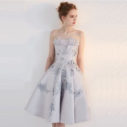 Elegant Silver Cocktail Dress