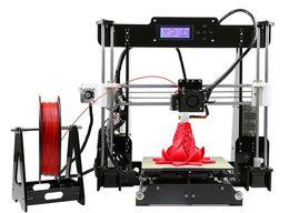 Горячие продажи 3d-принтер поделки Анет A6 Простота сборки Precision RepRap Prusa i3 3D Kit Принтер DIY С Волокно 16GB LCD экран свободной LLFA