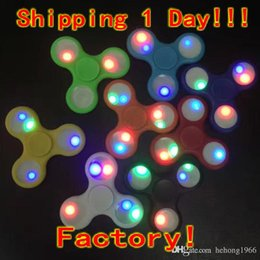 online shopping 2017 New LED Light Hand Spinners Fidget Spinner Colorful Triangle Finger Spinning Top Decompression Fingers Toys DHL