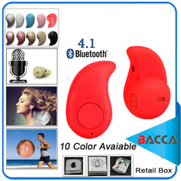 online shopping China Red Sport Running S530 Mini Stealth Wireless Bluetooth Earphone Stereo Headphones music Headset Retail Box for iphone7 plus