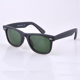 Discount woman uv sunglasses HOT seal Matte Black sunglasses mens sun glasses glass Lens Plank sunglasses High Quality womens glasses UV protection eyeglass 50 54mm size