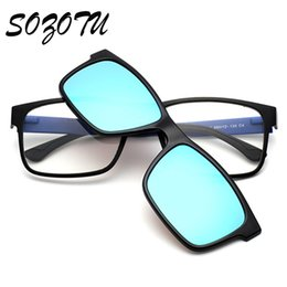 discount eyeglasses frames clip wholesale tr90 optical eyeglasses frame men women clip on magnets polarized