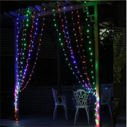 New 3m X 3m 300 Led Outdoor Home Christmas Decorative Xmas String Fairy Curtain Garlands Strip Party Lights For Wedding Led Lights Strip For Christmas Trees