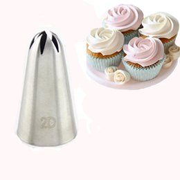 Wholesale 2d Large Size Rose Flower Cake Decorating Icing Tips Cupcake Nozzles Baking Decorations Bakeware