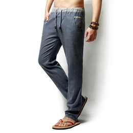 Long Linen Pants Mens Online | Long Linen Pants Mens for Sale