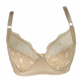 Wholesale Moda Deep V Sexy Brasier desnudo para las mujeres Sexy Transparent Mujeres sujetador ropa interior completo Brassiere C D DD Cup