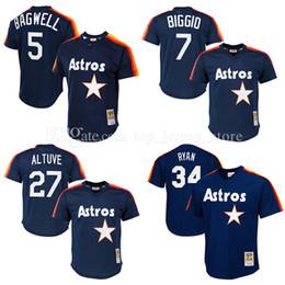 f056d0022dc Houston Astros baseball jerseys 27 Jose Altuve jersey Jeff Bagwell Mitchell  Ness Navy Cooperstown .