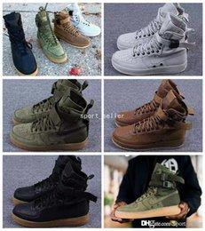 Wholesale 2017 Chaussures de course pour homme Femme Forces spéciales Force Noir Gomme Marron clair Faded Olive Beige Lin d or Sports AIR Sneakers Bottes