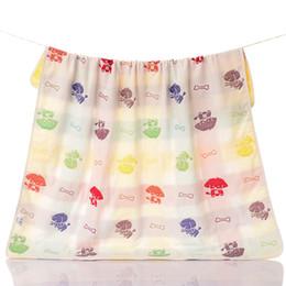 2017 cotton gauze patterns Factory direct cotton Tong was Six layer gauze mushroom pattern child gauze bath towel child by children Goyang towel