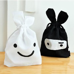 Atacado-1 Pc Ninja Rabbit Viagem Lavandaria Almoço de armazenamento Drawstring Pouch Bag Pocket 2 cores